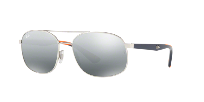 Ray Ban RB3593 910188 SILVER Grey Mirror Silver Gradient