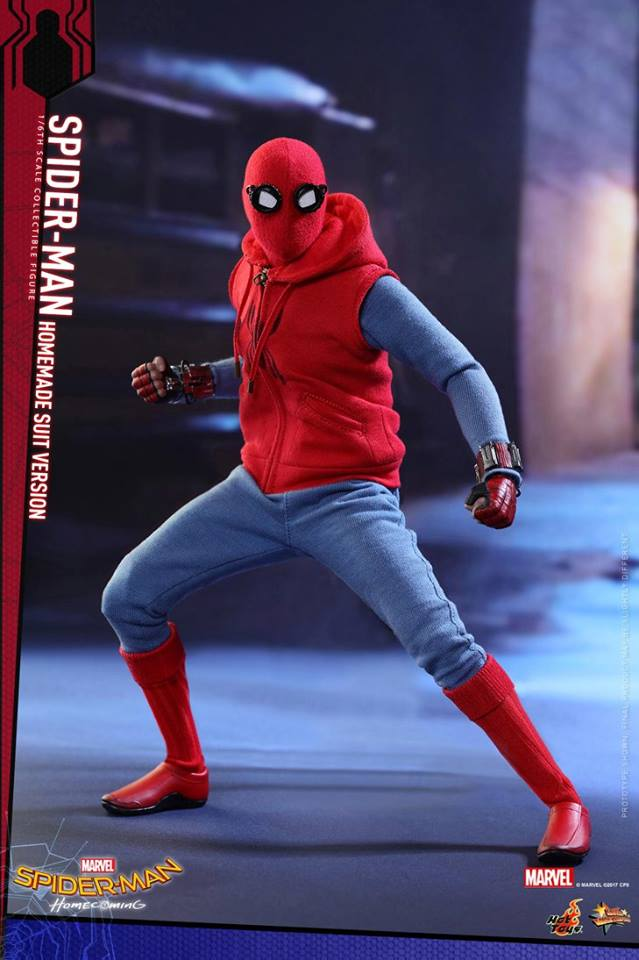 Hot Toys MMS414 SPIDER-MAN: HOMECOMING - SPIDER-MAN (HOMEMADE SUIT VERSION)