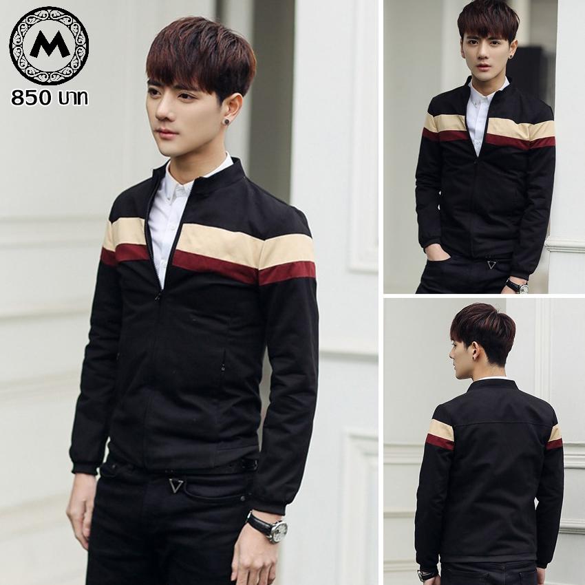 เสื้อแจ๊คเก็ต J009 สีดำ [สินค้าไต้หวันนำเข้า-พร้อมส่ง]