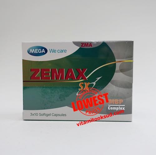 Mega We Care Zemax SX เสริมสร้างกล้ามเนื้อ 30 เม็ดราคาพิเศษ ส่งฟรี