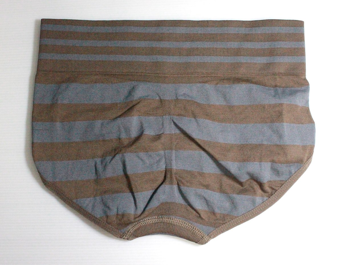 กางเกงในเอวสูง กางเกงในขอบใหญ่ L เส้นหนาทั้งตัว สีน้าตาล