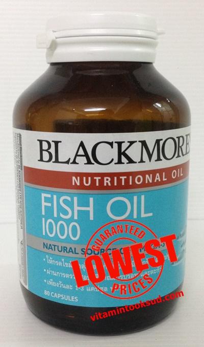 Blackmores Fish Oil 1000 mg 80 เม็ด แบลคมอร์ส ฟิช ออยล์ 80 แคปซูล ถูกสุด ส่งฟรี