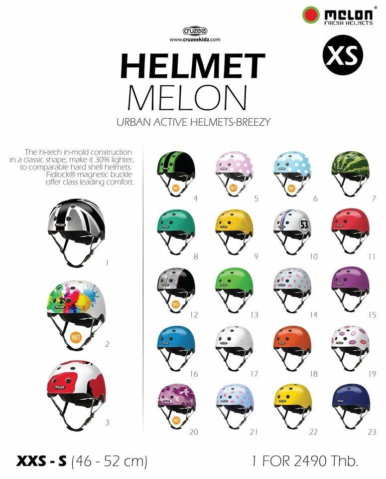 Helmet-หมวกกันน็อค Melon จากเยอรมัน มาตรฐานระดับโลก ใช้ได้กับกีฬาปั่นจักรยานและผาดโผนทุกประเภท
