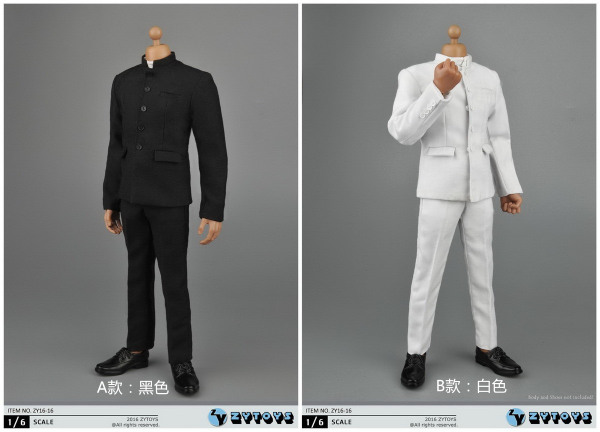 ZY TOYS ZY16-16A,B Black and White suit set