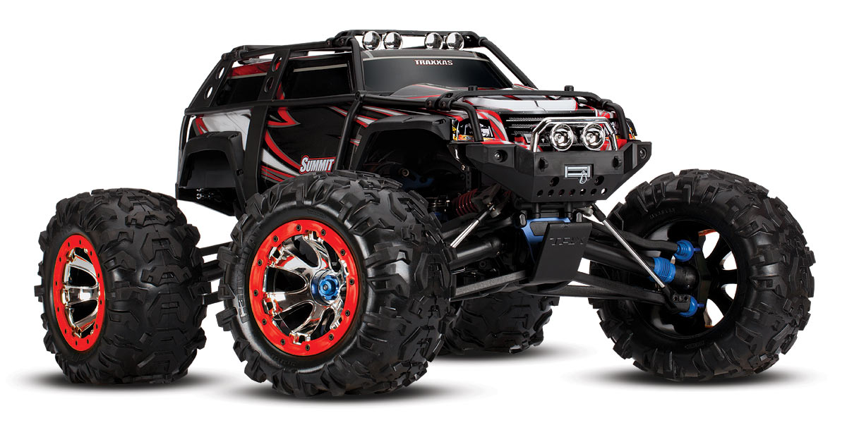 Summit: 1/8 Scale 4WD Electric Extreme Terrain Monster Truck with TQi Traxxas Link Enabled 2.4GHz Radio System # 56076-1