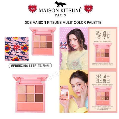 *พร้อมส่ง*3CE Maison Kitsune Multi Color Palette #Freezing Stepโทนชมพูหวานๆ พาเลทที่รวมอายเชโดว์ และบรัขออนภายในตลับเดียว มีทั้งเนื้อกลิตเตอร์และแมทท์ ในพาเลตต์มีอายแชโดว์ 6 เฉดสี และบรัชออน 1 เฉดสี ใช้ได้ง่ายในทุกวันเลยจ้า สีสวยติดทนนานตลอดวัน คุ้มค่าม ,