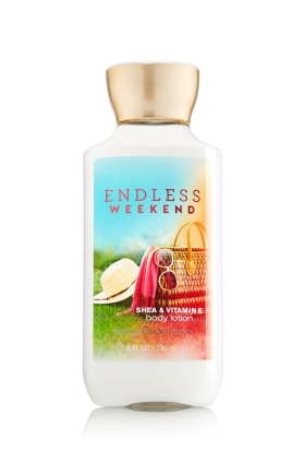 **พร้อมส่ง**Bath & Body Works ENDLESS WEEKEND Shea & Vitamin E Body Lotion 236 ml. โลชั่นบำรุงผิวสุดพิเศษ กลิ่นหอมน่ารักของผลราสเบอร์รี่ กับกลิ่นวนิลลา หอมผ่อนคลายเหมาะกับวันสบายๆ ในวันหยุดพักผ่อนคะ ,