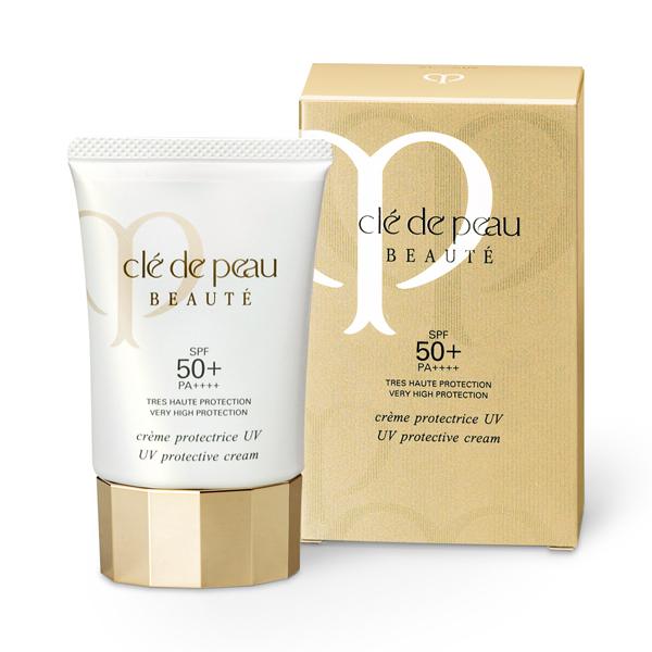 **พร้อมส่ง**Cle De Peau Beaute UV Protection Cream 50ml. ครีมกันแดด (สำหรับทาผิวหน้าและผิวกาย) ช่วยป้องกันสัญญาณแห่งการเสื่อมสภาพของผิวที่เกิดจากแสงแดด พร้อมให้ผิวสวยอย่างเป็นธรรมชาติและช่วยเพิ่มความกระจ่างใส มีกลุ่มของโมเลกุลคอมเพล็กซ์ที่สัมพันธ์กันในการ