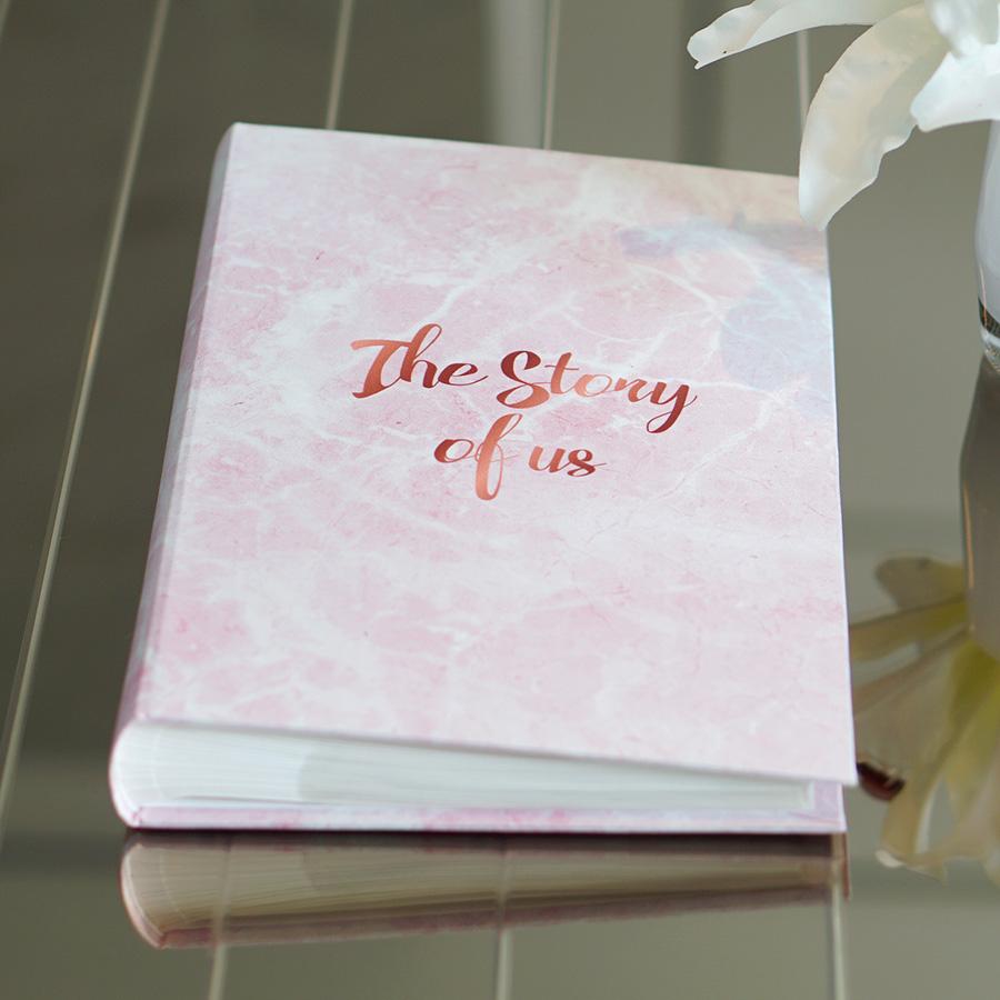 """อัลบั้ม 300 รูป (4x6"""") พร้อมส่ง The story of us ลายหินอ่อนสีชมพู"""