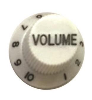 วอลุ่มกีต้าร์ไฟฟ้า สีขาวตัวหนังสือดำ Vol ST
