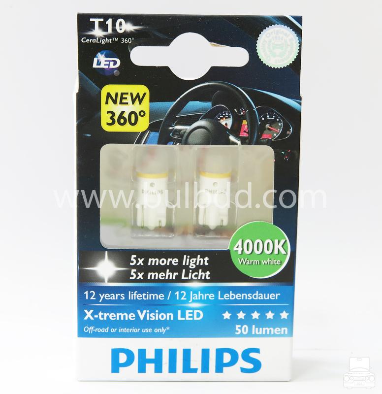 Philips X-Treme CeraLight 360 T10/W5W 4000K