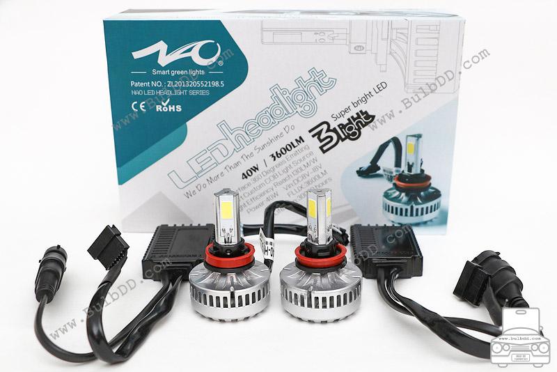 ไฟหน้า LED ขั้ว H8/9/11 รุ่น 3 COB Chip แสง 3000K