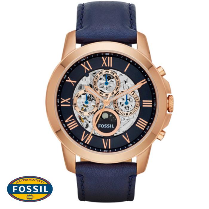 นาฬิกา FOSSIL ME3029 Men Watch Automatic Skeleton Leather Strap 44 mm