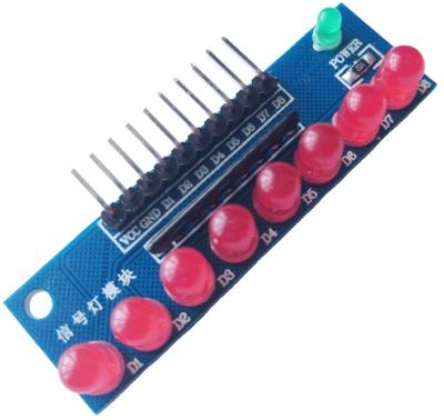 บอร์ดทดลอง LED Module 8ดวง 5mm สีแดง