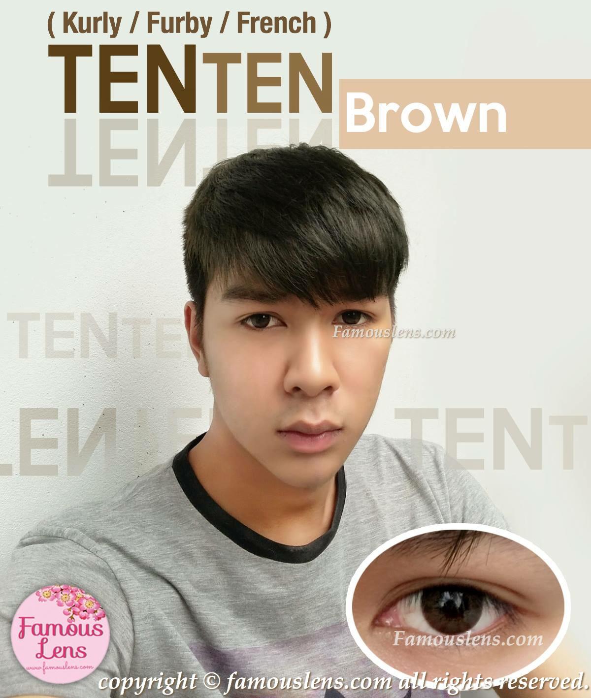 French Extra Brown Dia.14 คอนแทคเลนส์สำหรับผู้ชาย คอนแทคเลนส์สีน้ำตาลสวยๆขนาดเท่าตาจริง
