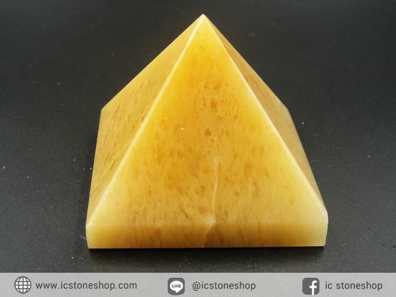 หินทรงพีระมิค- อเวนจูรีนสีเหลือง Yellow Aventurine (208g)