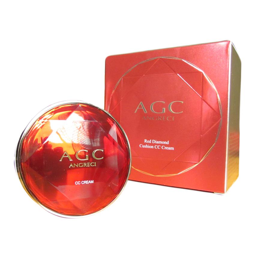 AGC ซีซีครีม แป้งคุชชั่น แป้งพัฟ Cushion CC Cream Puff สวยใส เนียนฉ่ำ แบบสาวเกาหลี พร้อมรีฟิว