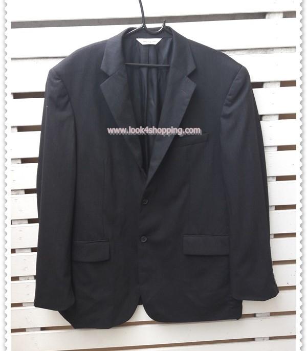 0022--เสื้อสูทชาย สีดำ Pronto uomo อก 44 นิ้ว