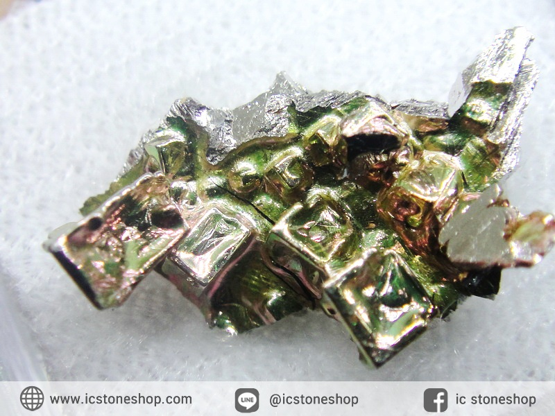 บิสมัท Bismuth รูปแบบแร่ที่มนุษย์ทำขึ้น(2.1g)