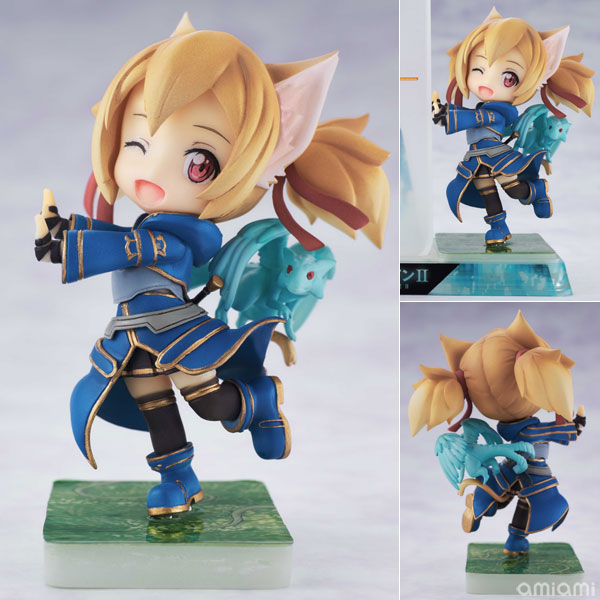 Smartphone Stand Bishoujo Character Collection No.09 Sword Art Online II - Silica PVC Pre-painted Complete Figure(Pre-order)