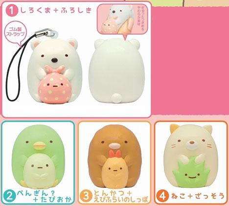 (Pre-order) Sumikko Gurashi Fukkura Strap 4Pack BOX