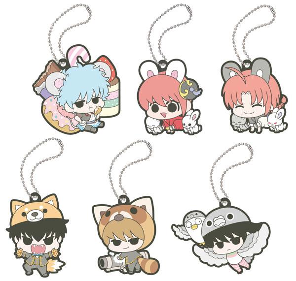 Rubber Mascot Gintama Hata-ouji no Animal Paradise 6Pack BOX(Pre-order)