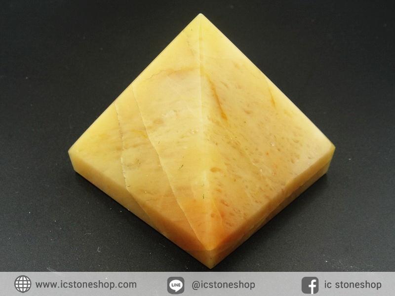 หินทรงพีระมิค- อเวนจูรีนสีเหลือง Yellow Aventurine (175g)