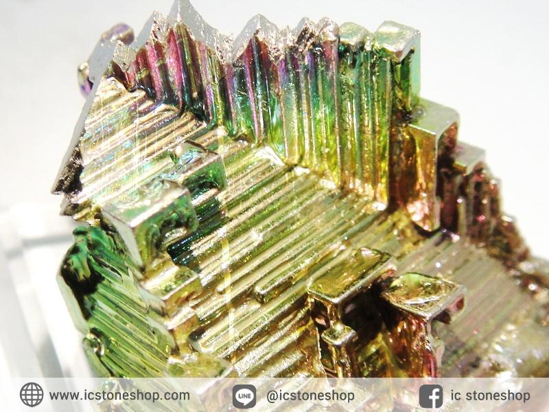 บิสมัท Bismuth รูปแบบแร่ที่มนุษย์ทำขึ้น(18.6g)