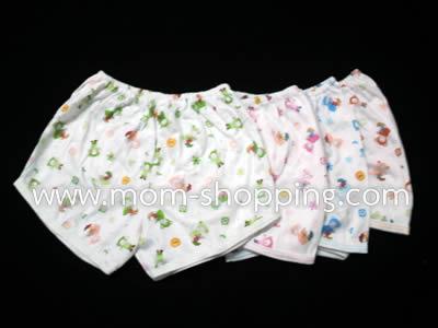 กางเกงขาสั้นผ้า cotton คละสี (แพ็ค 3 ตัว)