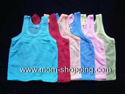 เสื้อกล้ามเด็กแบบมีรู แพ็ค 6 ตัว (คละสี)