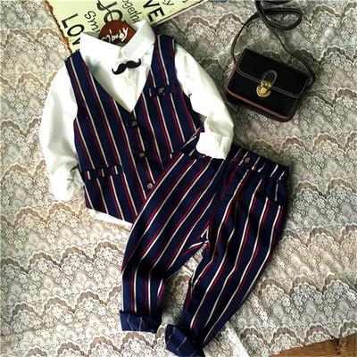 ID336- เสื้อ+กางเกง+เสื้อกั๊ก 5 ชุด /แพค ไซส์ 90-130