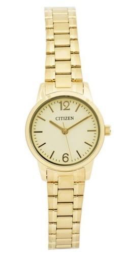 นาฬิกาผู้หญิง Citizen รุ่น EJ6083-59P, Dress Quartz White Dial Gold