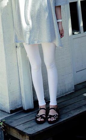 เลคกิ้ง ขายาว สีขาว รุ่นเบาสบาย