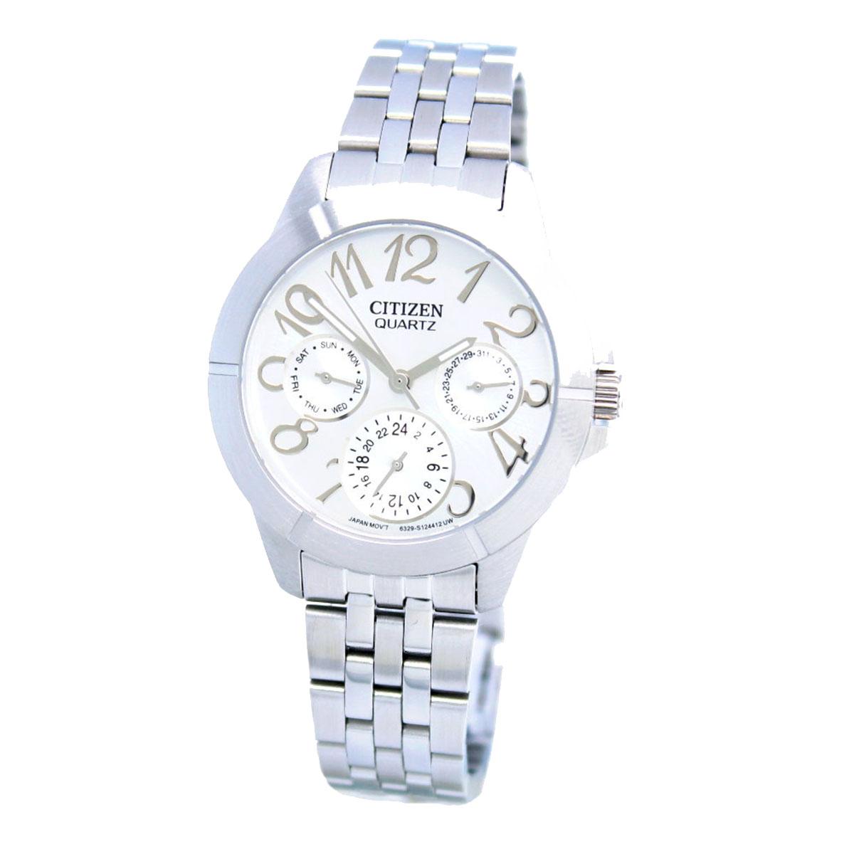 นาฬิกาผู้หญิง Citizen รุ่น ED8100-51A, Silver Day/Date Steel Dress