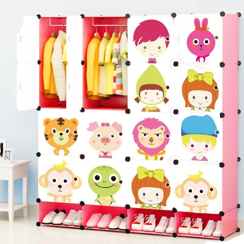 ตู้เก็บของ ตู้เสื้อผ้าเด็ก DIY ลาย เด็กและสัตว์