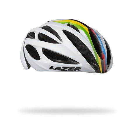หมวกจักรยาน LAZER O2 สี Matte White Champion