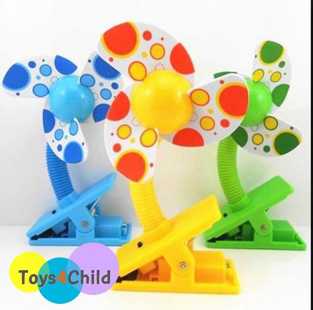 Baby Clip-On Mini Stroller Fan พัดลมติดรถเข็น คาร์ซีท เตียง เพลเพน Deboo ใบพัดโฟม