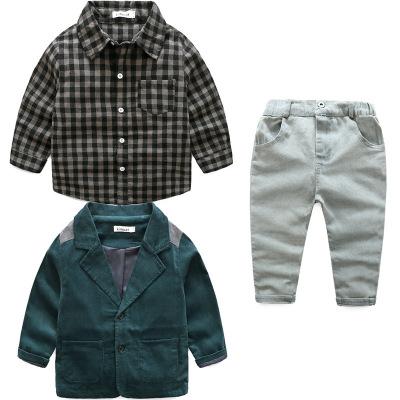 ID383- เสื้อ+กางเกง+เสื้อตัวนอก 5 ชุด /แพค ไซส์ 90-130