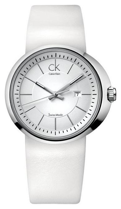 นาฬิกาข้อมือผู้หญิง Calvin Klein รุ่น KOH23101, Ck Dress Ladies Analog White Swiss Watch