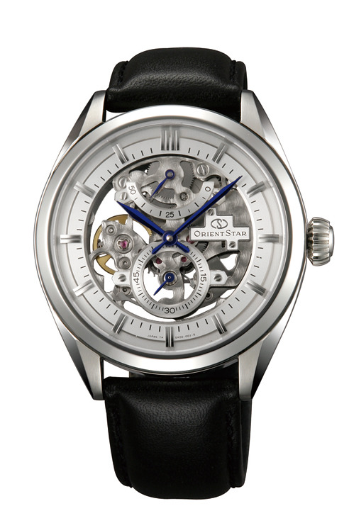 นาฬิกาผู้ชาย Orient รุ่น SDX00002W, Orient Star Skeleton Mechanical Hand Winding Power Reserve Men's Watch