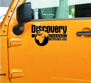 สติ๊กเกอร์ติดรถยนต์ลายdiscovery ฃนาด 25x15cm