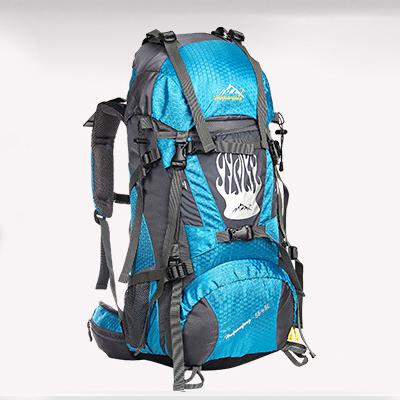 NL13 กระเป๋าเดินทาง สีฟ้า ขนาด 55+5 ลิตร (เสริมโครง)