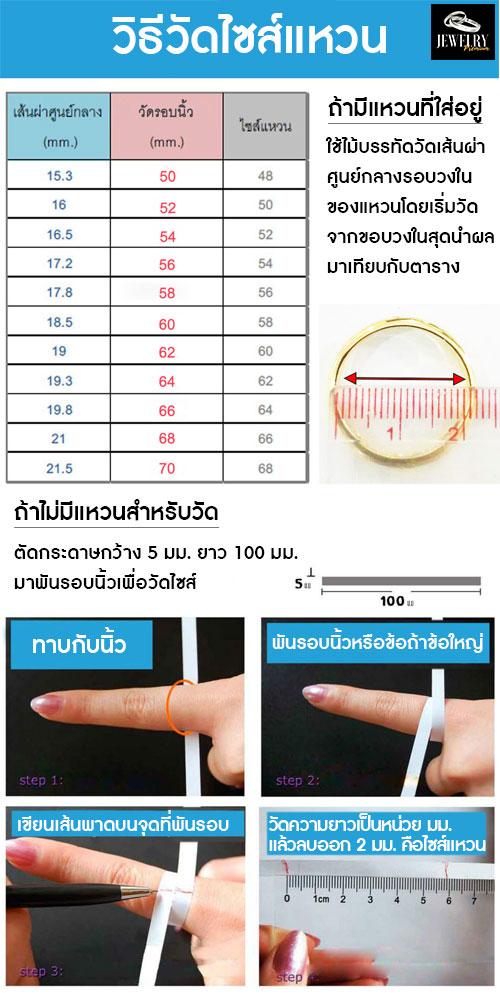 วีธีวัดไซส์แหวน อย่างง่าย ใครก็ทำได้