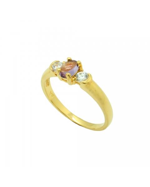 แหวนไพลิน ตัวเรือนอัลลอยด์หุ้มทองคำแท้