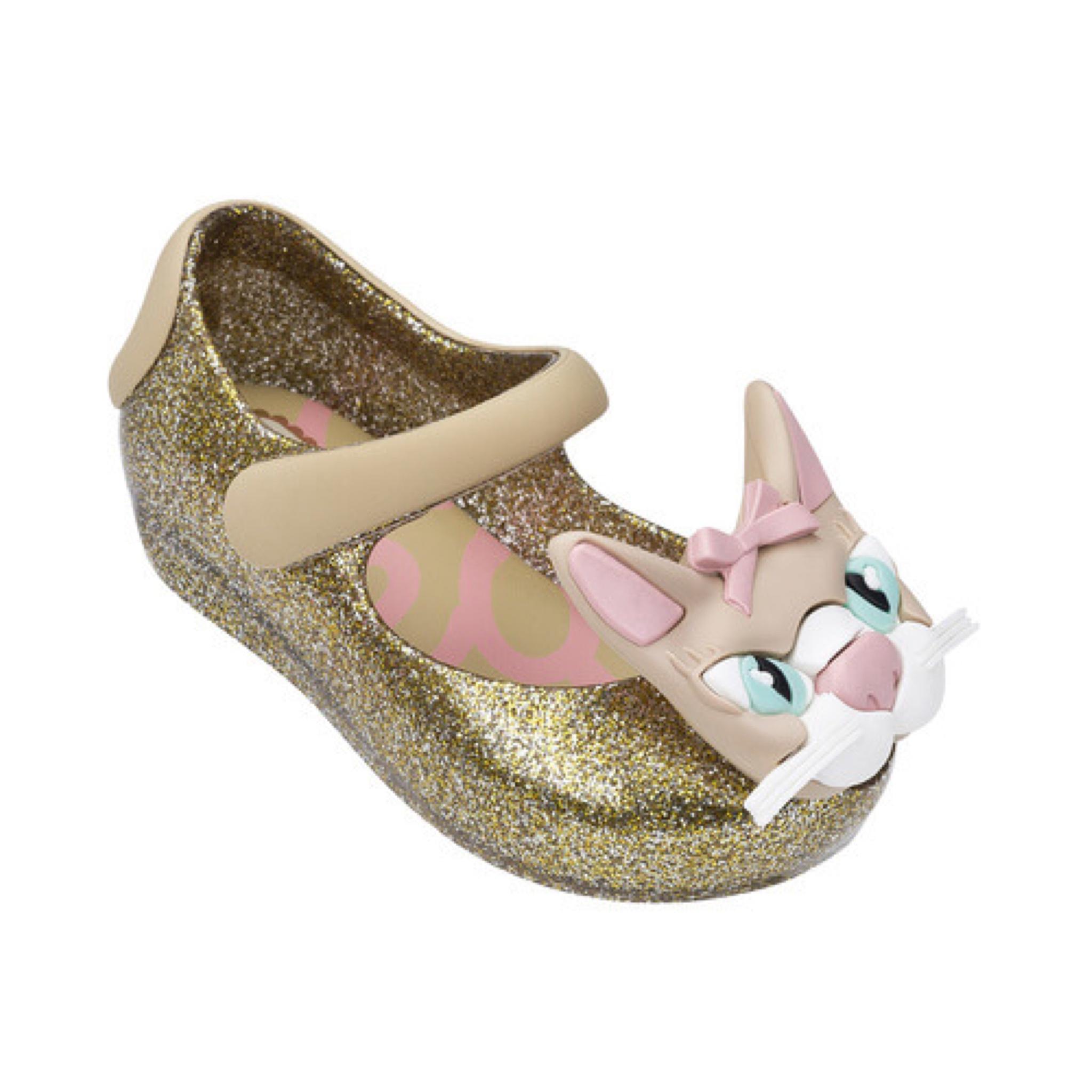 รองเท้าแมวน้อยรุ่นใหม่สำหรับลูกสาว Mini Melissa รุ่น Ultragirl Cat VII (Gold)