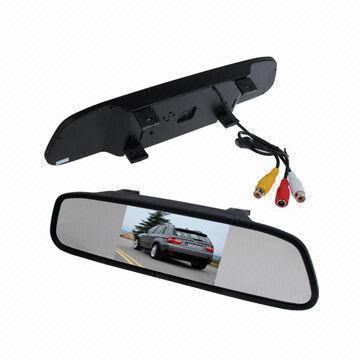 ชุดกล้องมองหลังและจอกระจก LCD