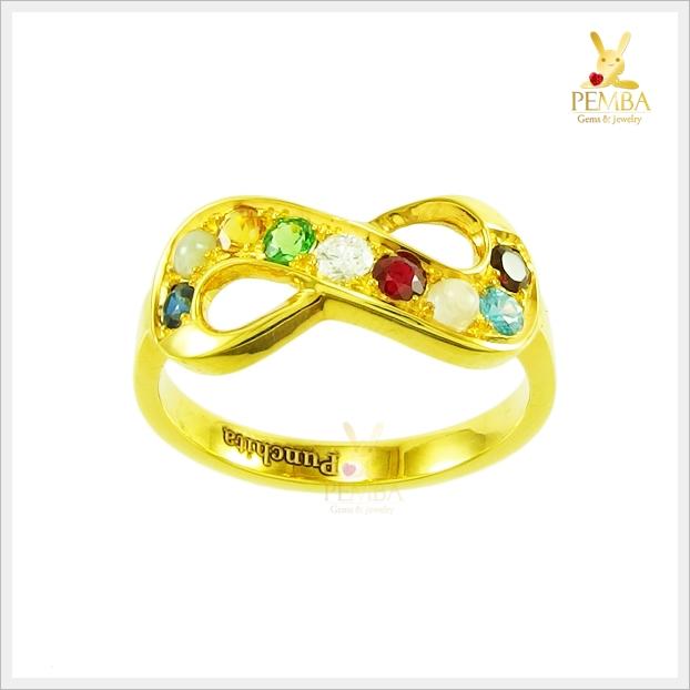 แหวนนพเก้า Infinity เสริมบารมี มงคลโชคลาภ(สอบถามราคา)