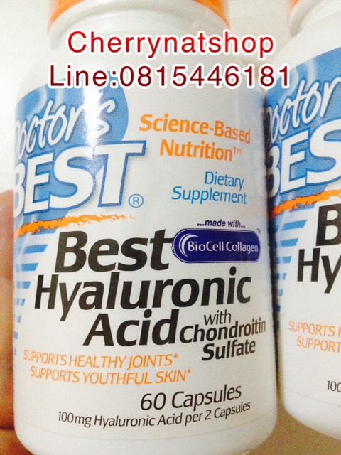 วิตามินลดความเสื่อมของข้อต่อกระดูกผิวเนียนนุ่ม Doctor's Best Hyaluronic Acid นวัตกรรมBioCellCollage