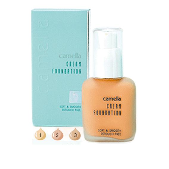 camella cream foundation soft and smooth retouch free คาเมลล่า ครีม ฟาวเดย์ชั่น ซอฟท์ แอนด์ สมูท รัทัช ฟรี