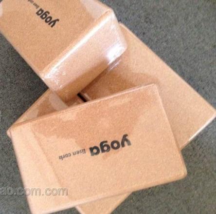 บล็อคโยคะ ไม้ cork YK9004P(Box yoga)